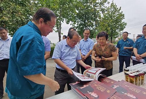 德州市委常委、常务副市长刘长民来山东木门生产厂家金马首检查指导工作
