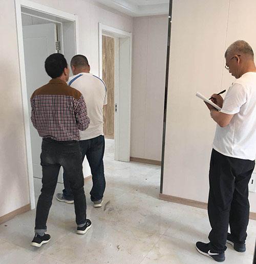 金马首木门-滨州北海府邸商住楼-验收现场